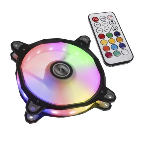 LIAN LI BORA RGB PWM 120MM FAN WITH REMOTE FAN CONTROLLER - BLACK
