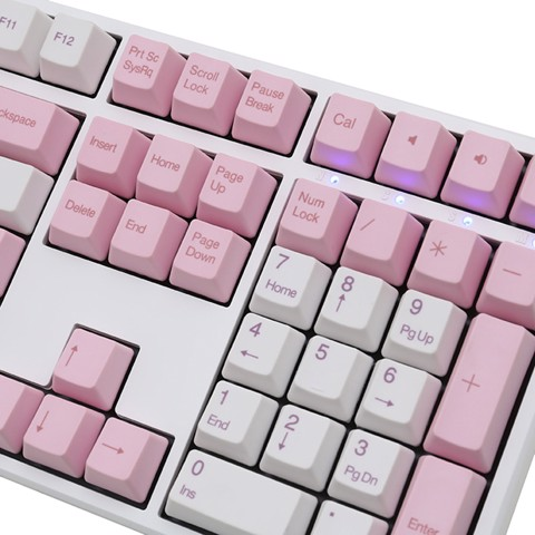 Ducky One PBT White Pink
