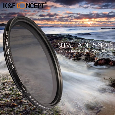 Filter K&F Concept Variable Fader ND2-ND400 - 58mm
