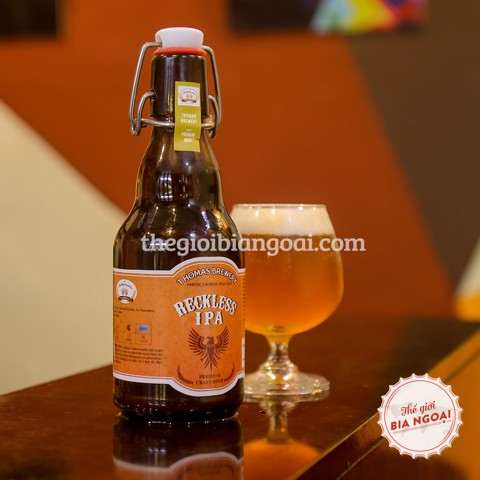 Bia THƠM Reckless IPA, chai swing top 330ml