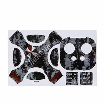 1 Full Set of Decorative PVC Sticker Skin Protector for DJJ Phantom 4 Fuselage Remote Control Digital Camouflage Pattern
