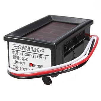 0.56inch DC 0-200V Car LED Digital Display Panel Volt Meter Voltmeter 3 Wire (Intl)