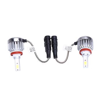 1 Pair 66W 6000lm H8 H9 H11 Cob Car Headlight Kit Fog LED Bulb - intl