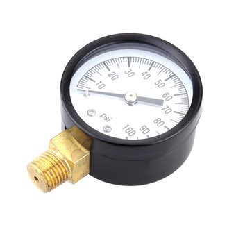 0-100psi Mini Dial Air Pressure Gauge Meter Piezometer Single Scale - Intl