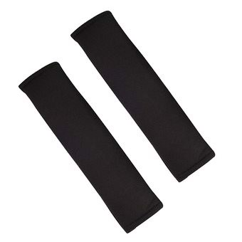 1 Pair Cotton Car Safety Belt Seat Belt Strap Shoulder Cover Pad Cushion Pads with Hook and Loop Fastener
