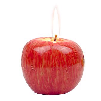 1 PC Apple Modeling Decorative Candle for Christmas Eve Gift Birthday Party Large Size