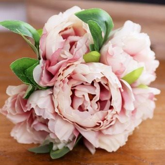 1 Bouquet Artificial Peony Silk Flowers Wedding Bridal (pink) - Intl