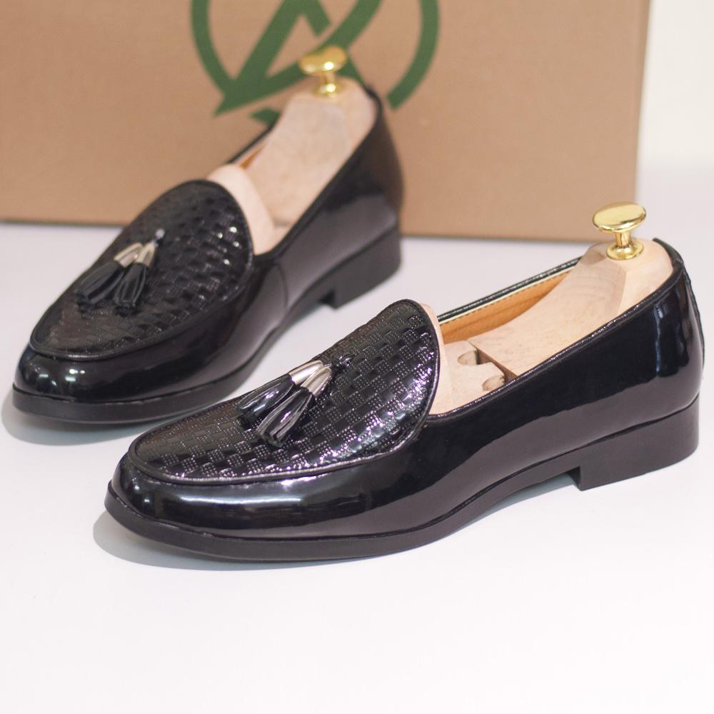 Giày Lười Nam Chuông Vàng Vân Caro (M506)