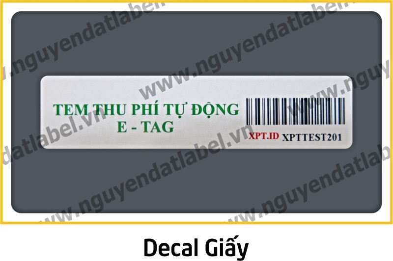 Decal Giấy
