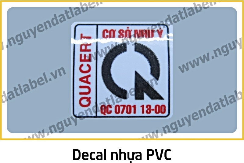 Decal Nhựa PVC