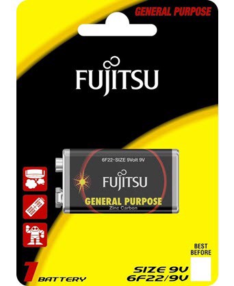 pin fujitsu 6f22 1b size 9v carbon zinc battery