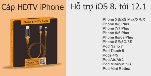 Cáp kết nối iPhone với tivi HDMI FullHD - Hỗ trợ iPad - CLH-P8+