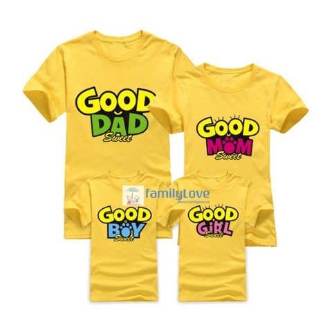 Áo gia đình GOOD DAD, GOOD MOM, GOOD BOY, GOOD GIRL