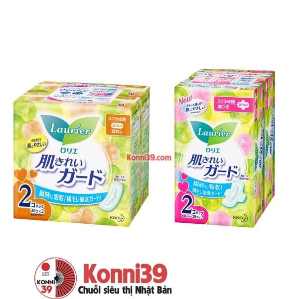 Băng vệ sinh Kao Laurie ban ngày - pack 2 gói (2 loại) (mẫu mới) - hàn –  Chuỗi siêu thị Nhật Bản nội địa - MADE IN JAPAN Konni39 tại Việt Nam