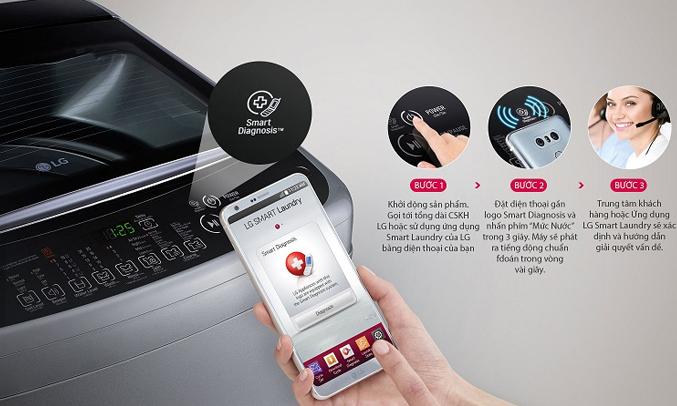 Máy giặt LG T2385VS2M tiết kiệm chi phí sửa chữa
