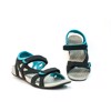 Vento Retro Sandals Black & Blue
