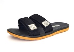 Vento Arrow Strappy Slides Black
