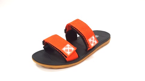 Vento Arrow Strappy Slides Orange