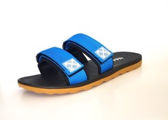 Vento Arrow Strappy Slides Blue