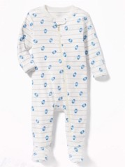 Sleepsuit Old Navy [girl] - Trắng/Trứng Khủng Long