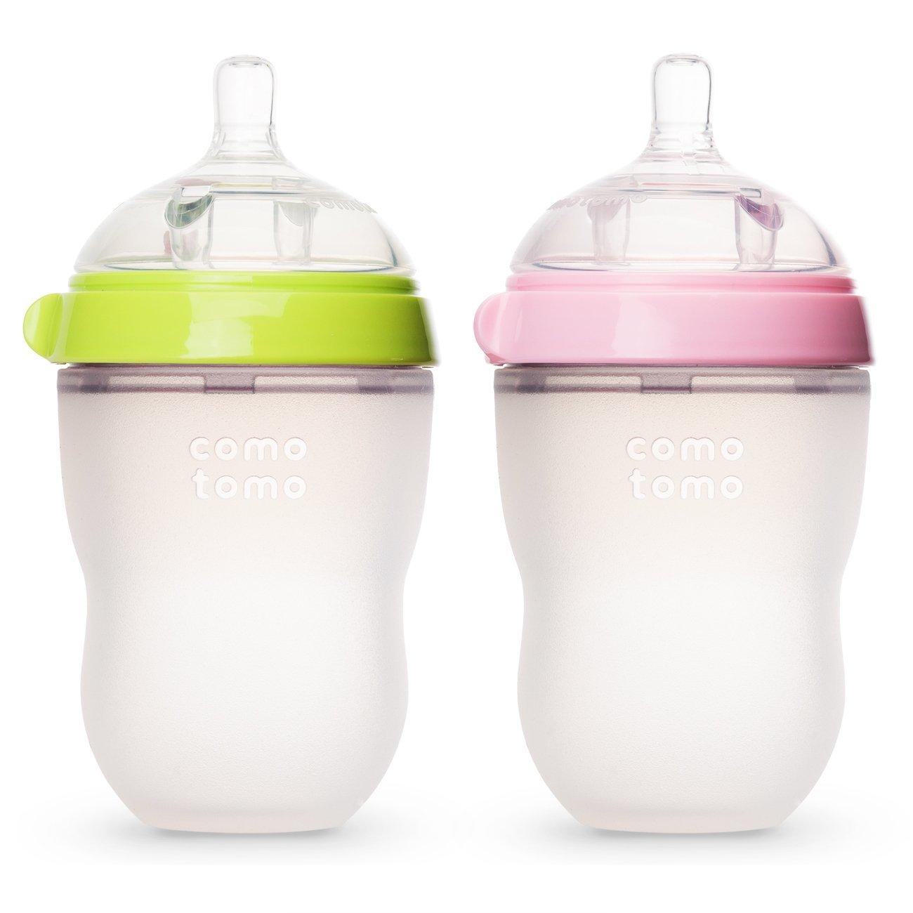 Bình sữa silicone Comotomo 250ML - Xanh lá