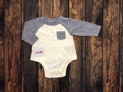 Bodysuit Old Navy [boy] - Cream/Light Grey