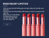 Son thỏi Black Rouge Rose Velvet Lipstick