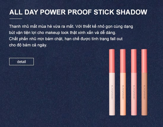 Phấn mắt Black Rouge All Day Power Proof Stick Shadow