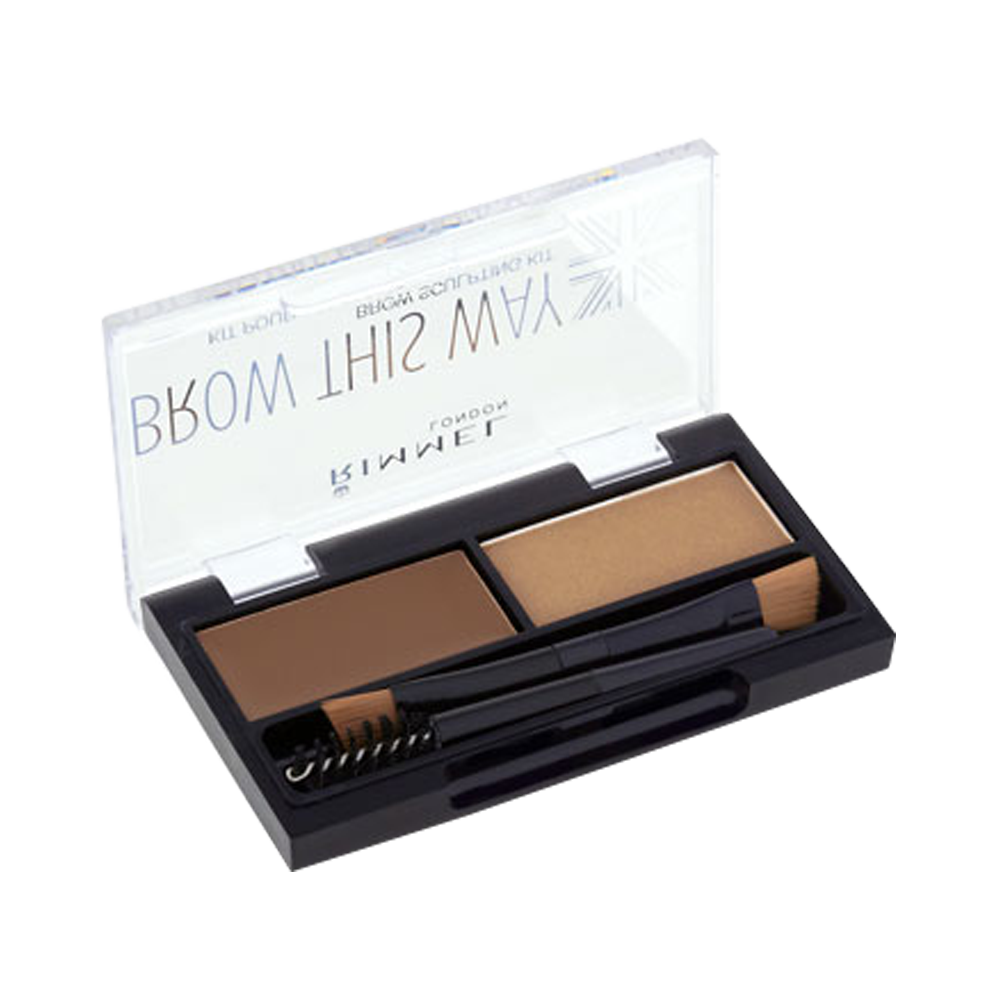 Bột kẻ chân mày Rimmel Brow This Way Sculpting Kit Mid Brown