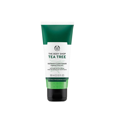 [ THE BODY SHOP] Kem tẩy tế bào chết da mặt THE BODY SHOP Tea Tree Squeaky-Clean Scrub 100ml