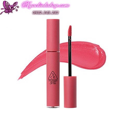 Son kem lì 3CE Velvet Lip Tint #Pink & Break