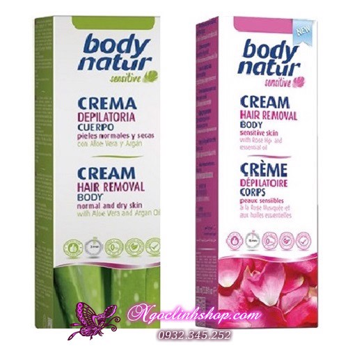 Kem tẩy lông Body Natur Sensitive Hair Removal Cream