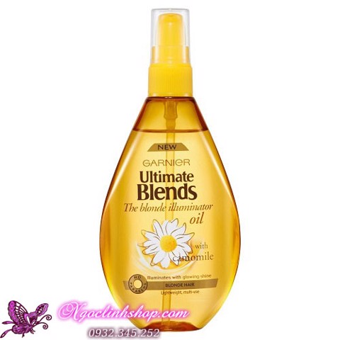 Dầu dưỡng cho tóc vàng GARNIER Ultimate Blends The Blonde Illuminator Oil with Camomile