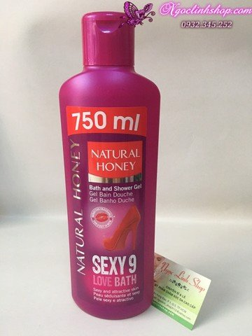 Sữa tắm Natural Honey Sexy 9 - 750ml