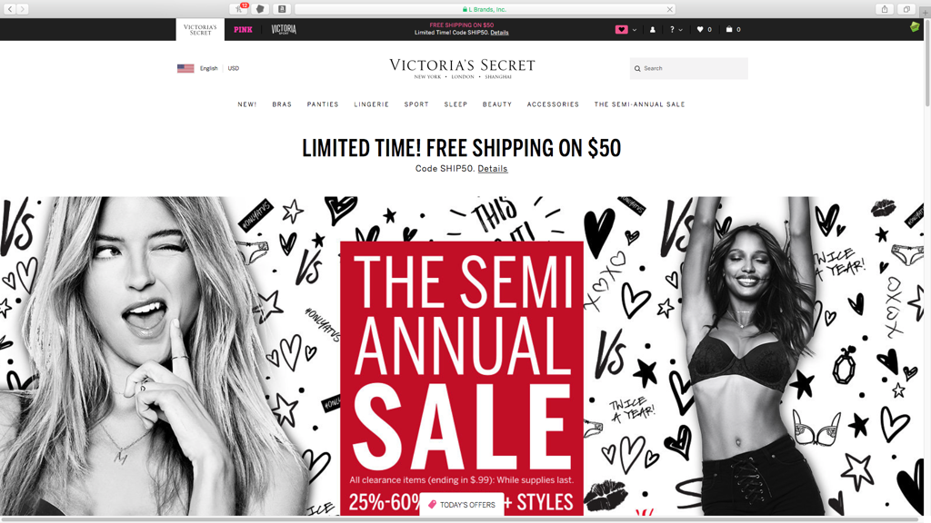 Victoria's Secret####https://www.victoriassecret.com