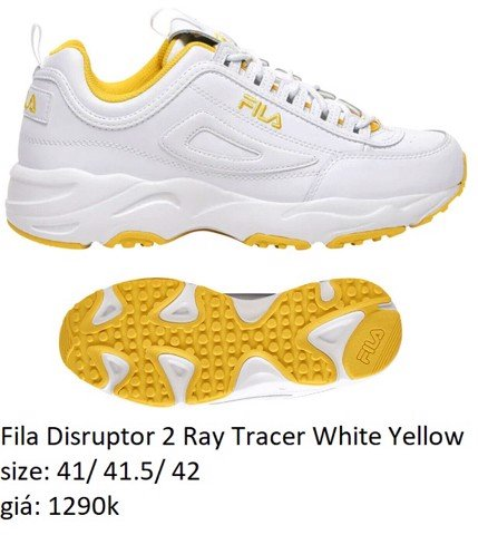 Fila Disruptor 2 Ray Tracer White Yellow 1FM00670-136