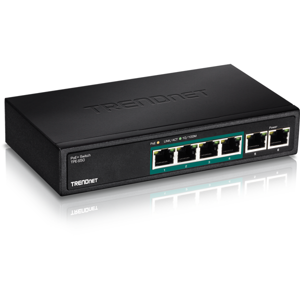 6-Port Fast Ethernet PoE+ Switch
