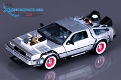 Xe Mô Hình Dmc Back To The Future Iii 1:24 Welly (Bạc)