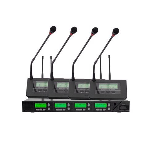 D6662 Four UHF Wireless Microphone