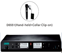D6551 UHF 200 channels/ LCD display.