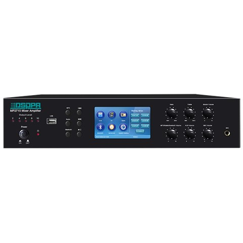 MP2715 - Amply Mixer tích hợp 6 Zones/ SD/ USB/ Tuner FM/ Bluetooth & Timer
