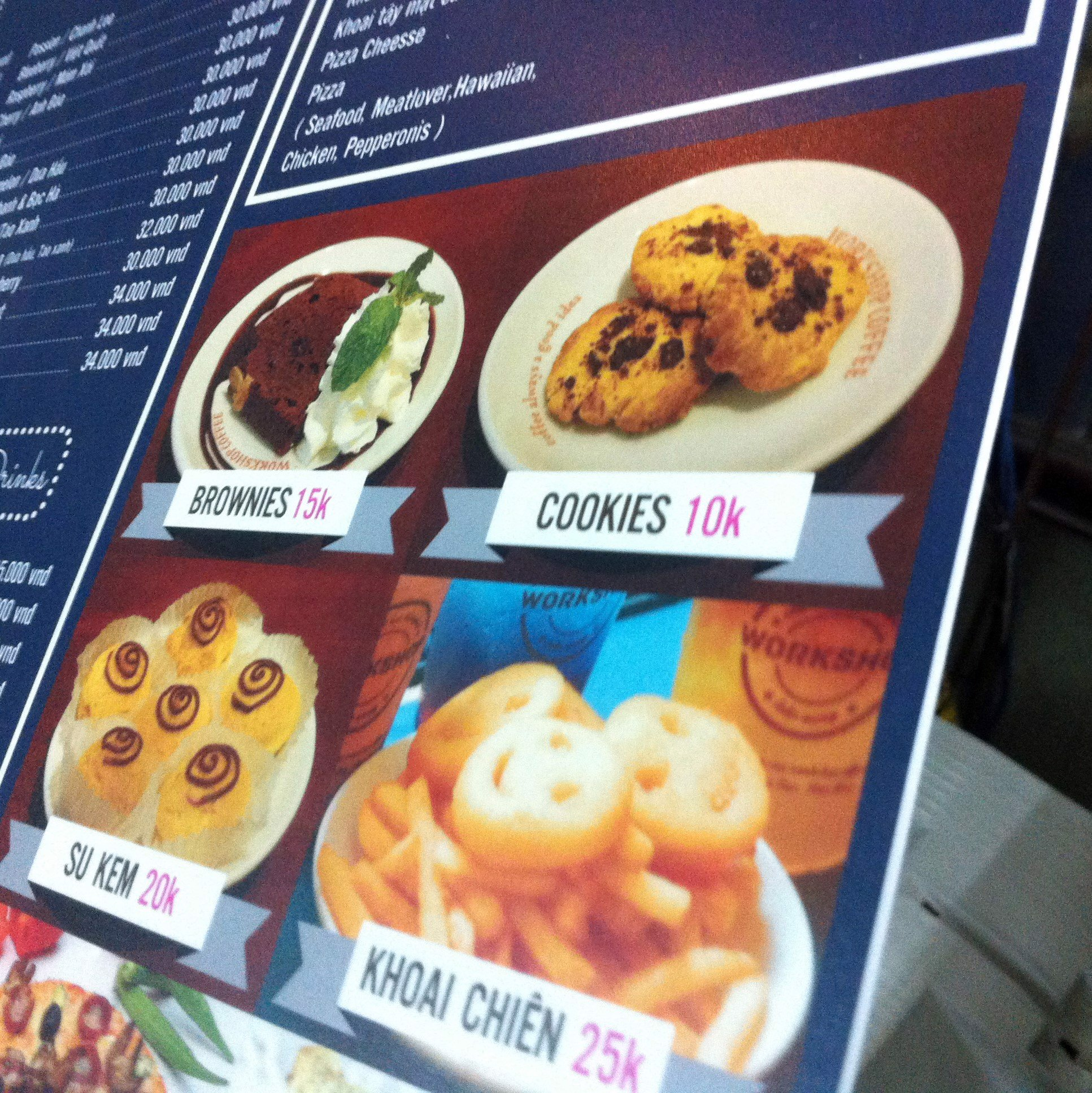 In fomex Menu