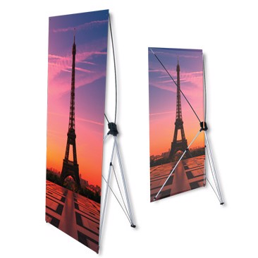 In Standee chữ X 60x160cm