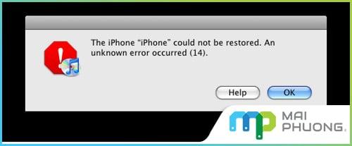 Các lỗi Restore iPhone, iPad thông báo bằng số