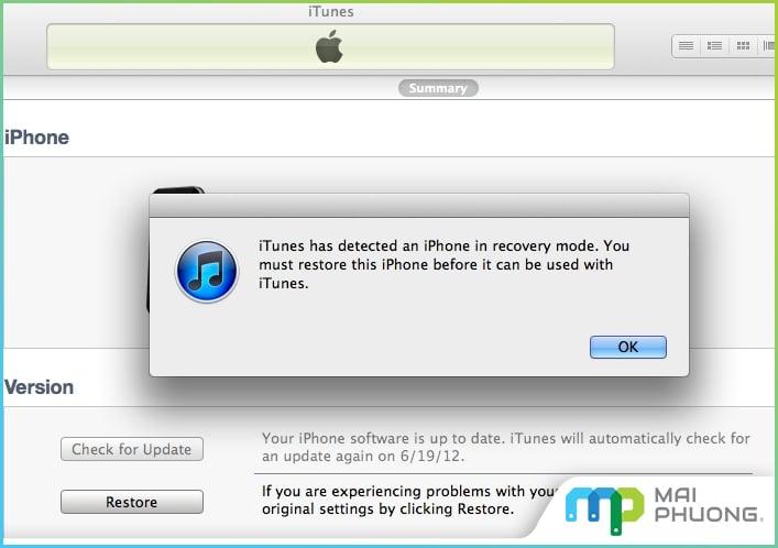 Kết nối với iTunes phiên bản mới nhất để khắc phục lỗi Bluetooth