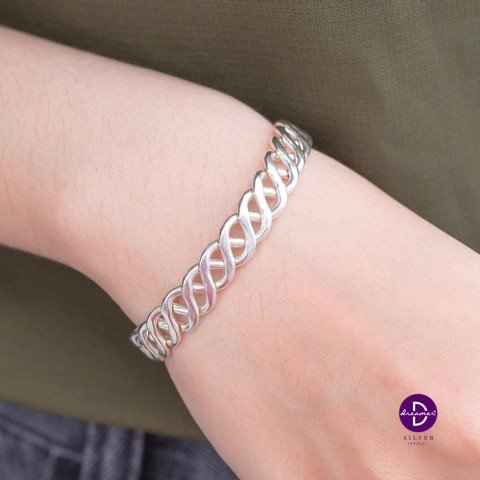 Kiềng Siver Twisted Bracelet