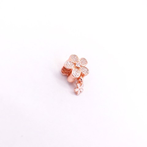 Charm Rose Gold Big Falling Flower