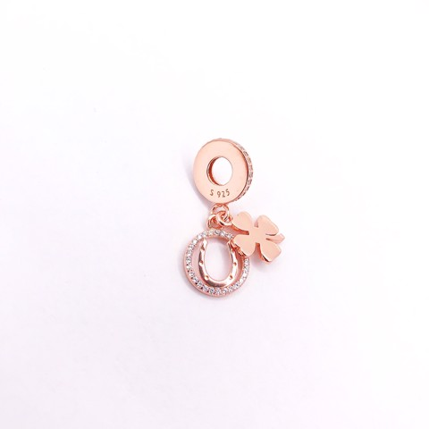 Charm Rose Gold Lucky Flower U