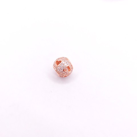 Charm Rose Gold Empty Lovely Stone Ball