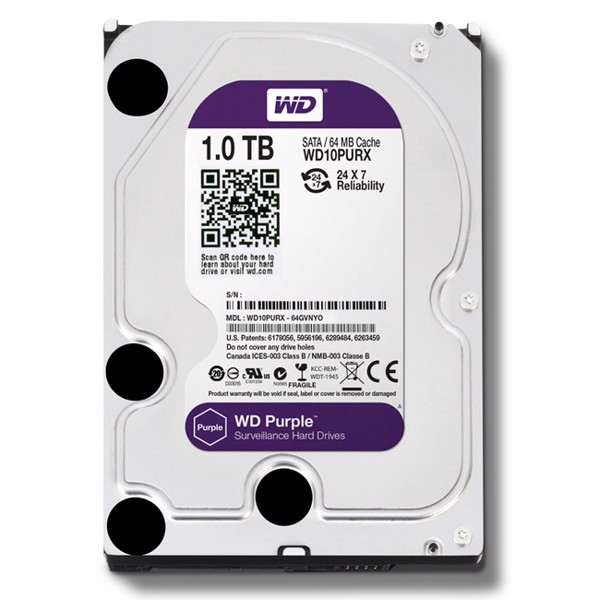 Ổ cứng camera WD PURPLE 1TB